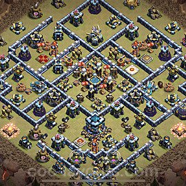 TH13 Anti 3 Stars War Base Plan with Link, Copy Town Hall 13 Design 2021, #75