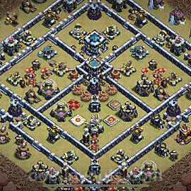 TH13 Anti 3 Stars War Base Plan with Link, Copy Town Hall 13 Design 2021, #76