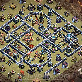 TH13 War Base Plan with Link, Copy Town Hall 13 Design 2021, #77