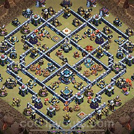 TH13 Anti 2 Stars War Base Plan with Link, Copy Town Hall 13 Design 2021, #78