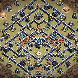TH13 Anti 2 Stars War Base Plan with Link, Copy Town Hall 13 Design 2021, #79