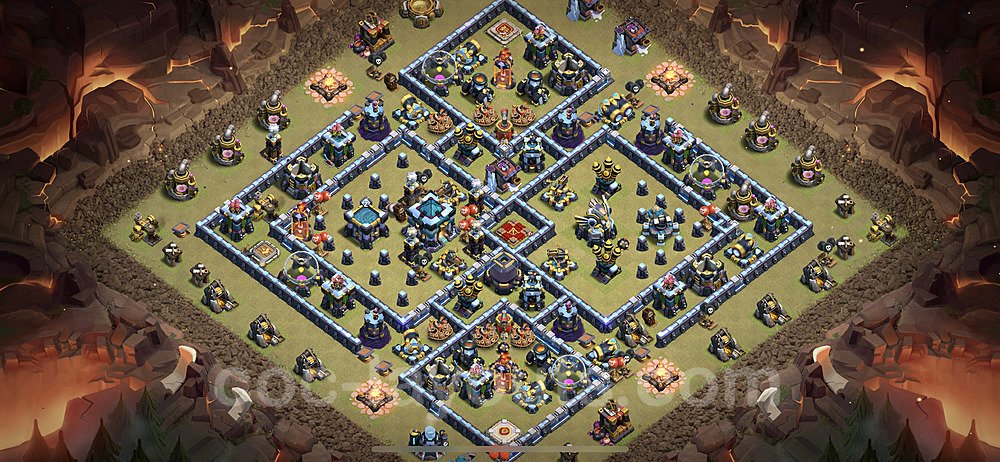 TH13 War Base Plan with Link, Copy Town Hall 13 CWL Design 2021, #119