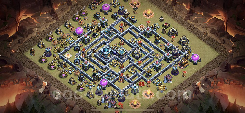 TH13 War Base Plan with Link, Copy Town Hall 13 Design 2020, #3