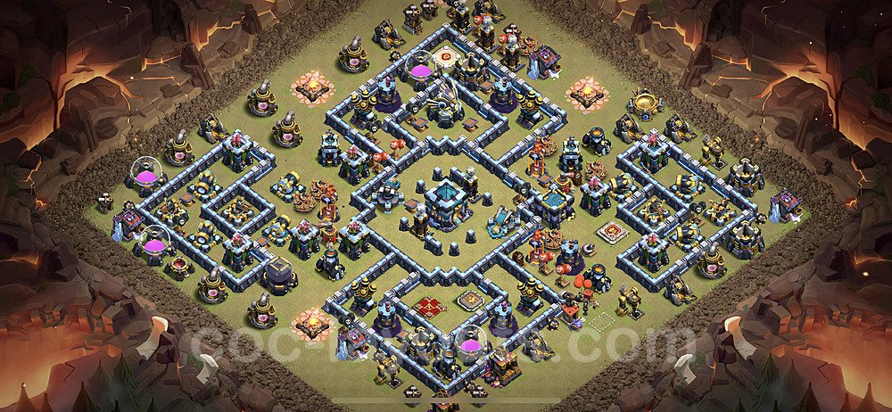 TH13 Anti 3 Stars War Base Plan with Link, Copy Town Hall 13 Design 2021, #43