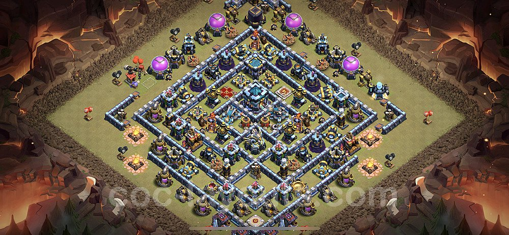 TH13 Anti 2 Stars War Base Plan with Link, Copy Town Hall 13 Design 2020, #8