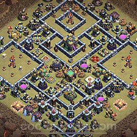 Die Clan War Base RH14 + Link 2021 - COC Rathaus Level 14 Kriegsbase (CK / CW) - #33