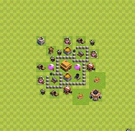 TH3 Trophy Base Plan, Town Hall 3 Base Design, #21