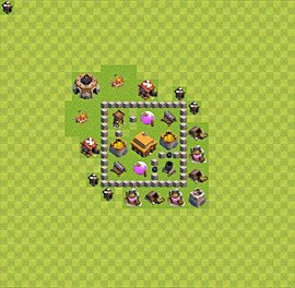 TH3 Trophy Base Plan, Town Hall 3 Base Design, #23