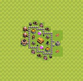 TH3 Trophy Base Plan, Town Hall 3 Base Design, #24