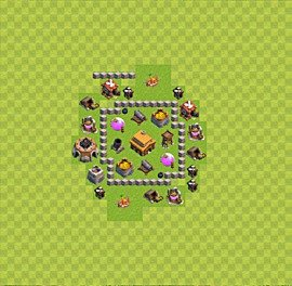 TH3 Trophy Base Plan, Town Hall 3 Base Design, #25