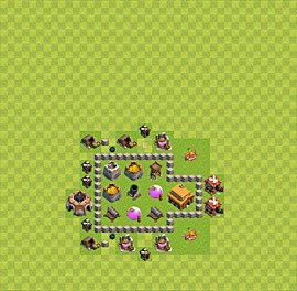 TH3 Trophy Base Plan, Town Hall 3 Base Design, #31