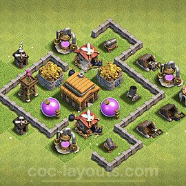 TH3 Anti 2 Stars Base Plan, Town Hall 3 Base Design 2021, #97