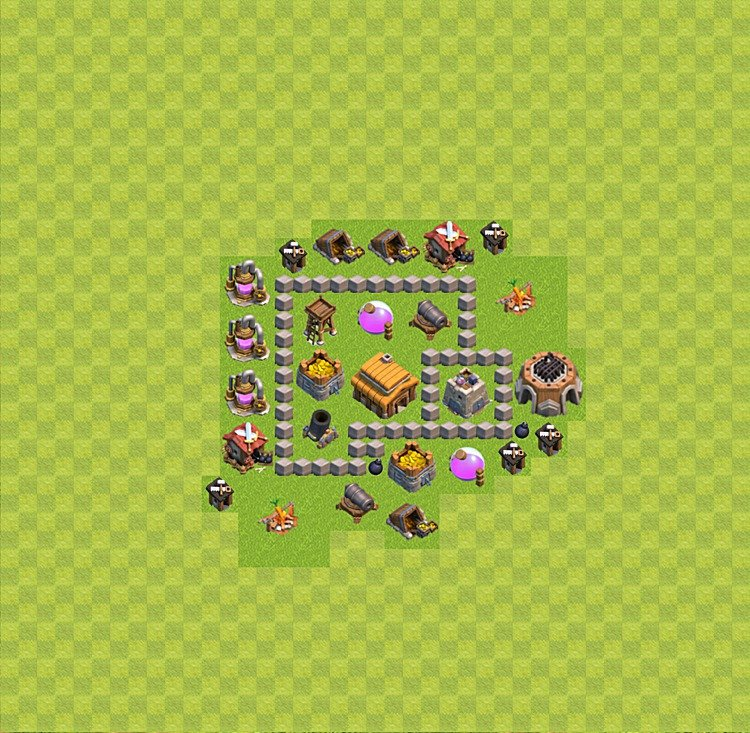 TH3 Trophy Base Plan, Town Hall 3 Base Design, #35