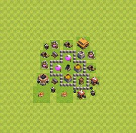 Base plan TH3 (design / layout) for Farming, #14