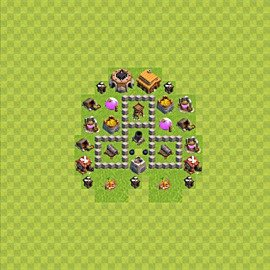 Base plan (layout), Town Hall Level 3 for farming (variant 38)