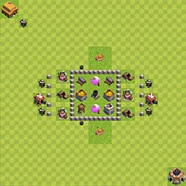 Base plan (layout), Town Hall Level 3 for farming (variant 39)