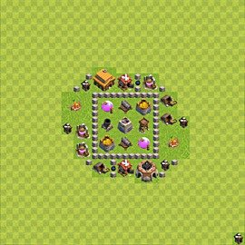 Base plan (layout), Town Hall Level 3 for farming (variant 40)