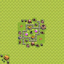 Base plan (layout), Town Hall Level 3 for farming (variant 41)
