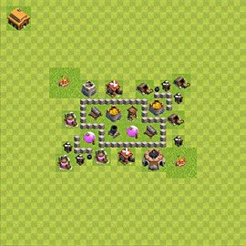Base plan (layout), Town Hall Level 3 for farming (variant 43)