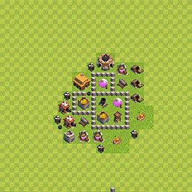 Base plan Town Hall level 3 for farming (variant 44)