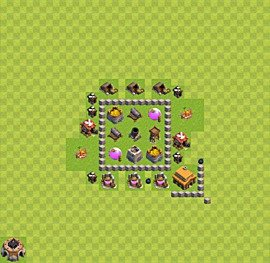 Base plan TH3 (design / layout) for Farming, #6