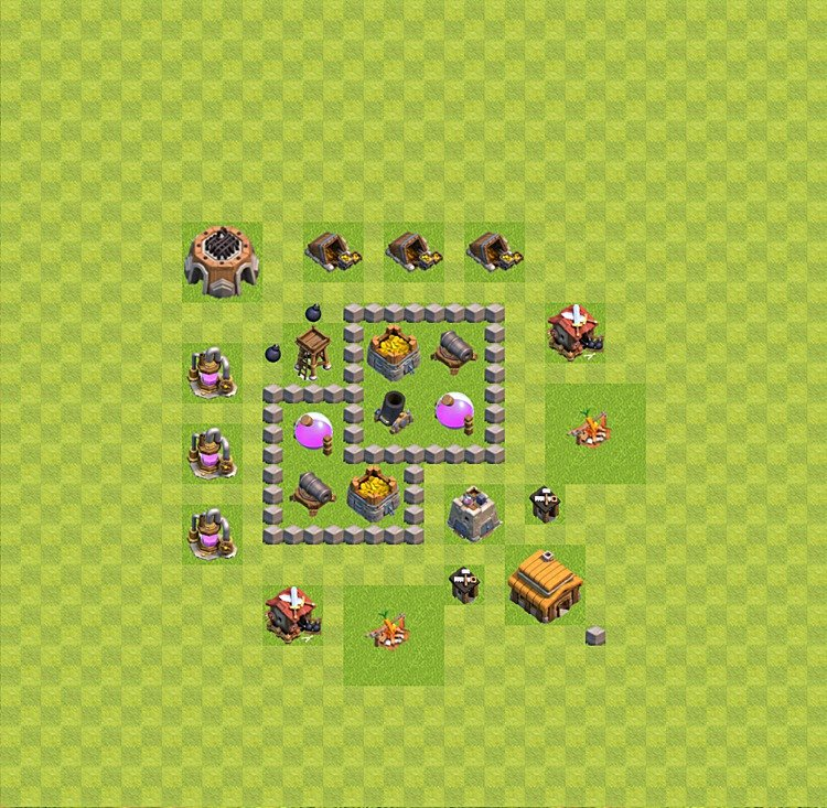 Base plan TH3 (design / layout) for Farming, #23