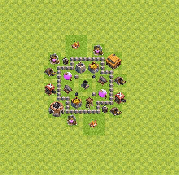 Base plan TH3 (design / layout) for Farming, #27