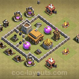 TH3 Anti 3 Stars War Base Plan, Town Hall 3 Design 2020, #3