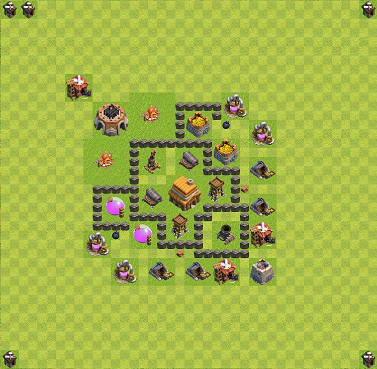 Town hall level 4 layout