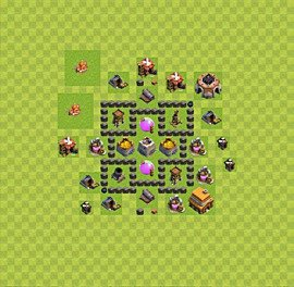 Base plan TH4 (design / layout) for Farming, #11