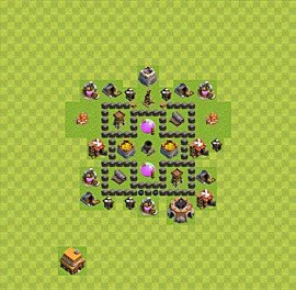Base plan TH4 (design / layout) for Farming, #16