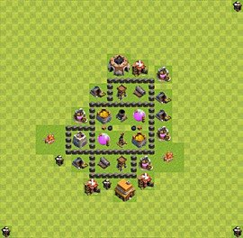 Base plan TH4 (design / layout) for Farming, #18