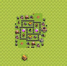 Base plan TH4 (design / layout) for Farming, #19