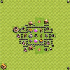 Base plan Town Hall level 4 for farming (variant 40)