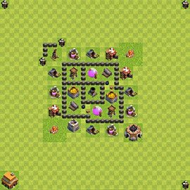 Base plan Town Hall level 4 for farming (variant 41)