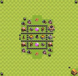Base plan TH4 (design / layout) for Farming, #9