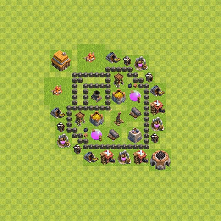Base plan TH4 (design / layout) for Farming, #38