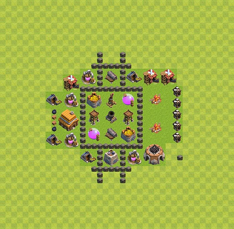 Base plan TH4 (design / layout) for Farming, #6