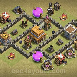 TH4 Max Levels War Base Plan with Link, Copy Town Hall 4 Design 2020, #10