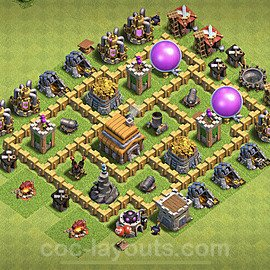 Anti Everything TH5 Base Plan with Link, Copy Town Hall 5 Design 2020, #127