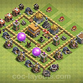 Anti Everything TH5 Base Plan with Link, Copy Town Hall 5 Design 2020, #128