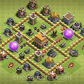 Full Upgrade TH5 Base Plan with Link, Copy Town Hall 5 Max Levels Design 2020, #129
