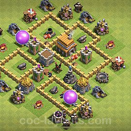 Anti Everything TH5 Base Plan with Link, Copy Town Hall 5 Design 2020, #130