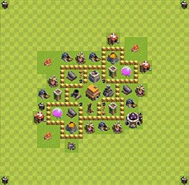 TH5 Trophy Base Plan, Town Hall 5 Base Design, #34