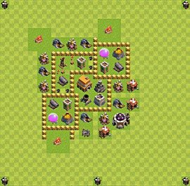 TH5 Trophy Base Plan, Town Hall 5 Base Design, #36
