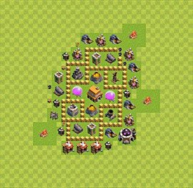 TH5 Trophy Base Plan, Town Hall 5 Base Design, #37