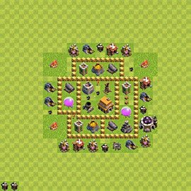 Base plan Town Hall level 5 for trophies (defence) (variant 55)