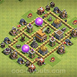 TH5 Trophy Base Plan with Link, Copy Town Hall 5 Base Design 2020, #60