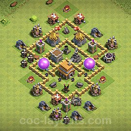 Full Upgrade TH5 Base Plan with Link, Copy Town Hall 5 Max Levels Design 2020, #62