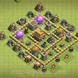 Full Upgrade TH5 Base Plan with Link, Copy Town Hall 5 Max Levels Design 2020, #67